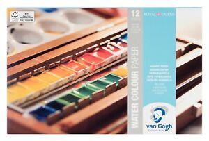 Royal Talens Van Gogh Watercolour Painting Paper Block 13.5 x 21 cm (12 Sheets)