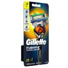 GILLETTE FUSION 5 PROGLIDE FLEXBALL RAZOR HANDLE WITH 2 CARTRIDGES