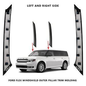 2009-2019 Ford Flex Windshield Outer Pillar Passenger& Driver Side Trim Molding