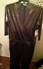 Rachel Roy gold lame' jumpsuit