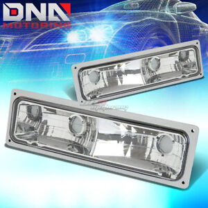 FOR 88-98 GMC SIERRA CHEVY SILVERADO C/K TRUCK 1500/2500/3500 CHROME BUMPER LAMP