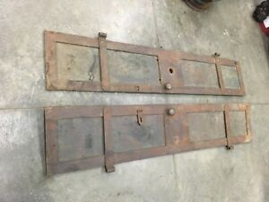 Antique Steel Bank Vault Doors Beautiful Architectural Salvage UNIQUE RARE