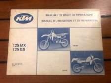 Manuel d'entretien et utilisation usine KTM vintage 125 cm3 1984 - moteur 501 MX