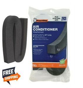 Frost King AC43H Black Polyethylene Foam Air Conditioner Weather Seal 42 L in.