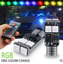 2PCS T10 5050 6SMD RGB LED W5W MultiColor Car Light Wedge Bulb +Remote Control R