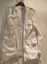 Michael Kors Autentico 💖 AVORIO PVC Trasparente Pioggia Cappotto Taglia SP IMPERMEABILE