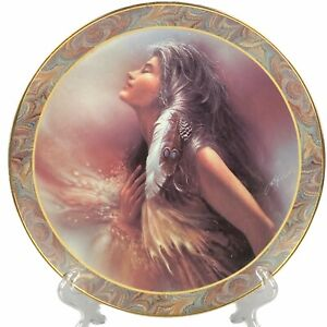 """The Promise by Lee Bogle Native Beauty Bradford Exchange 8"""" Plate"""
