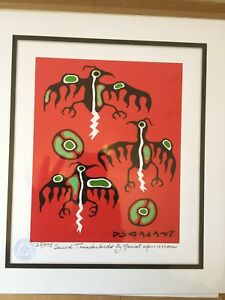 Sacred Thunderbird By Norval Morrisseau Limited Edition Numbered Stamped And COA