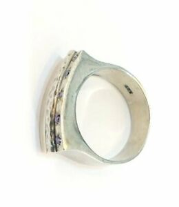 Vintage Antique stearling silver 925  gold plated  jewelry ring size 17