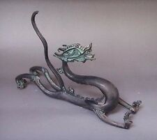 Home Decor Metal Crafts CHINESE bronze Carved ' Dragons ' Statues Penholder
