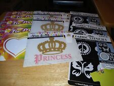 Lot Of 10 Iron-on Transfers And Stencils
