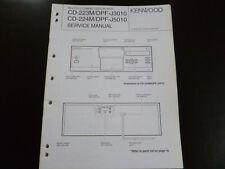 Original Service Manual Kenwood CD-223M DPF-J3010 CD-224M DPF-J5010