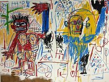 Jean-Michel Basquiat, Untitled (Diptych) 1982, Hand Signed Lithograph