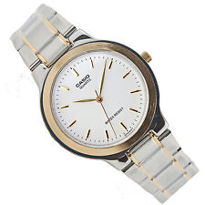 Casio MTP-1131G-7A Mens Stainless Steel Watch White Dial Analog Dress New