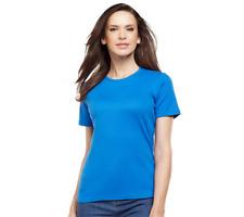 Liz Claiborne New York Essentials Short Sleeve Crew Neck Tee Size L TANGERINE