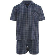 Pijamas y batas de hombre conjuntos de 100% algodón talla XXL