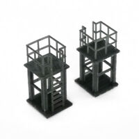 Outland Models Railroad Scenery Industrial Platform 2 pcs 1:87 HO Scale