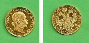 1 Dukat 1915 Goldmünze Franz-Josef, Österreich