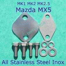 EGR Valve Removal Kit Mazda MX-5 1994-05 MK1 MK2 MK2.5 MX5 Stainless /S Polished