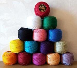 15 ANCHOR pearl Perle Cotton crochet balls Size 8 , 85m each embroidery thread