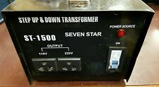 Seven Star ST 1500 w up/down Transformer Untested