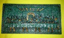 "Leonardo da Vinci Inspired Last Supper Wall Plaque Religious  3D ""Work Of Art"""