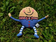 "Vtg Lucy Cousins Humpty Dumpty 1998 7"" Crocodile Creek Plush 3D Story Book Toy"