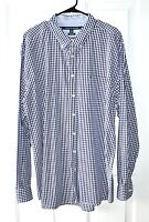 Tommy Hilfiger Mens XXL Classic Fit Plaid Cotton Button Down Long Sleeve Shirt