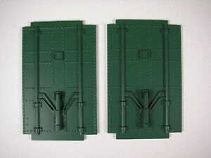 Lionel Large Scale 87105 Seaboard Reefer parts: PLUG DOORS, GREEN, NOS, EXC