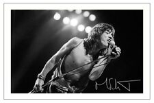 MICK JAGGER SIGNED PHOTO PRINT AUTOGRAPH THE ROLLING STONES