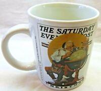 Norman Rockwell Coffee Mug-Saturday Evening Post Collection-Christmas Cover Mug