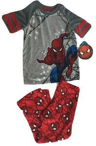Spider-Man Boys 2 Pc Size 4/5 Pajama Set  Pants NWT Red Gray New