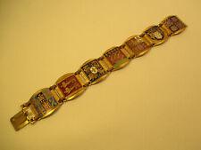 50er Jahre Emaille Damen Schmuck Armband : Frankreich Regionen / Wappen