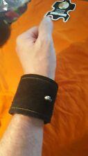 punk rocker190mmwrist/biker/metalhead/suede cuff,wristband #138