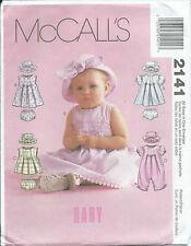 M 2141 sewing pattern Infant/Baby DRESS TOP ROMPER PANTIES HAT sew Cute S,M,L,XL