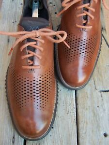COLE HAAN Mens Dress Shoe Cognac Brown Casual Comfortable Lace Up Oxford Size 9M