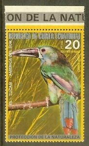 Equatorial Guinea-1974- South American & Australian bird - Crimson-rumped Toucan
