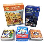 Lot de 5 jeux de société / de cartes - Incomplets - Rythme Boulet, Anagramme…