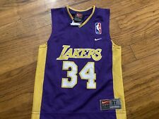 Shaq O'Neal LA Lakers Nike Vintage Toddler Jersey Yellow Boys Kobe Size 3T