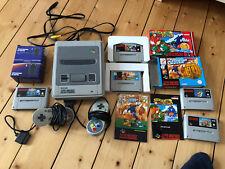 Super Nintendo (SNES) PAL, 2 Controller, 5 Spiele (u.a. OVP), Gameboy Adapter