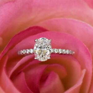 1.05 Carat Genuine Diamond Solid 950 Platinum Engagement Rings Size M1/2 N O P Q