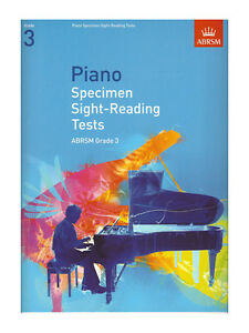 ABRSM Piano Specimen Sight Reading Tests, Grade 3 - Same Day P+P