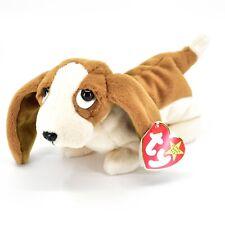 1997 TY Beanie Baby Original Tracker Basset Hound Dog Plush Beanbag Toy Doll