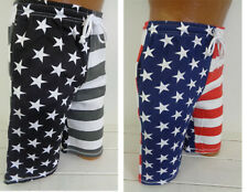 American Flag Shorts Cotton Elastic Men's USA 2 Colors to choose from