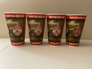 Capital Cups Boston Red Sox  Set of 4 Plastic