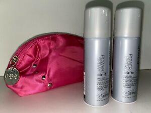 2 x Joico Power Spray 8-10 Fast-Dry Finishing Spray1.5 oz & OPI make up bag