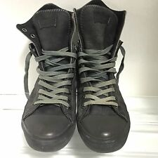 Levi's Mens Gray Grunge Lace Up Zip High Top Sneakers Shoes Canvas Size 9.5 L2