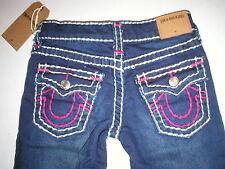 New Girls NWT $156 True Religion Brand Jeans 6 Stella Skinny Super T Blue Pink