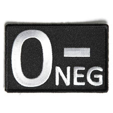 Embroidered O- Blood ID O Negative Blood Group Sew or Iron on Patch Biker Patch
