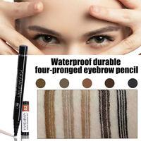 Sexy Microblading Eyebrow Tattoo Pen Waterproof Fork Tip Sketch Makeup Ink Brown
